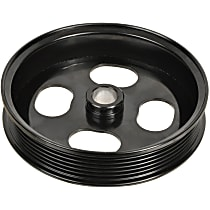 A1 Cardone 3P-15151 Power Steering Pump Pulley - Black, Steel, Serpentine, Direct Fit, Sold individually