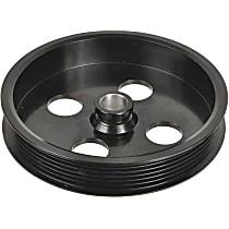 3P-15154 Power Steering Pump Pulley - Black, Steel, Serpentine, Direct Fit, Sold individually