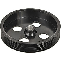 A1 Cardone 3P-15154 Power Steering Pump Pulley - Black, Steel, Serpentine, Direct Fit, Sold individually