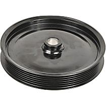 3P-15165 Power Steering Pump Pulley - Black, Steel, Serpentine, Direct Fit, Sold individually
