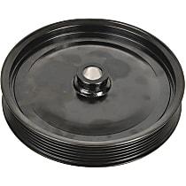 3P-15166 Power Steering Pump Pulley - Black, Steel, Serpentine, Direct Fit, Sold individually
