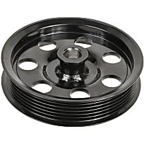 3P-25125 Power Steering Pump Pulley - Black, Steel, Serpentine, Direct Fit, Sold individually