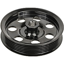 A1 Cardone 3P-25125 Power Steering Pump Pulley - Black, Steel, Serpentine, Direct Fit, Sold individually