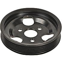 3P-25126 Power Steering Pump Pulley - Black, Steel, Serpentine, Direct Fit, Sold individually