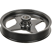 A1 Cardone 3P-25137 Power Steering Pump Pulley - Black, Steel, Serpentine, Direct Fit, Sold individually