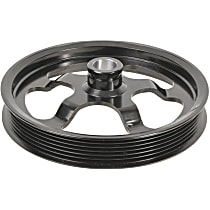 3P-25160 Power Steering Pump Pulley - Black, Steel, Serpentine, Direct Fit, Sold individually
