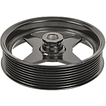 A1 Cardone 3P-27137 Power Steering Pump Pulley - Black, Steel, Serpentine, Direct Fit, Sold individually