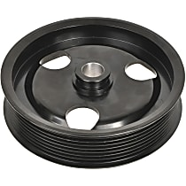 A1 Cardone 3P-27139 Power Steering Pump Pulley - Black, Steel, Serpentine, Direct Fit, Sold individually