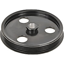 A1 Cardone 3P-33134 Power Steering Pump Pulley - Black, Steel, Serpentine, Direct Fit, Sold individually