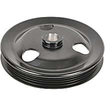 A1 Cardone 3P-33135 Power Steering Pump Pulley - Black, Steel, Serpentine, Direct Fit, Sold individually