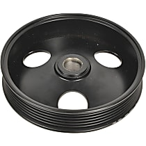 A1 Cardone 3P-35135 Power Steering Pump Pulley - Black, Steel, Serpentine, Direct Fit, Sold individually