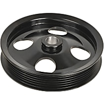 A1 Cardone 3P-35138 Power Steering Pump Pulley - Black, Steel, Serpentine, Direct Fit, Sold individually