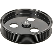 A1 Cardone 3P-36147 Power Steering Pump Pulley - Black, Steel, Serpentine, Direct Fit, Sold individually