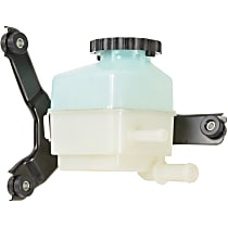 3R-112 Power Steering Reservoir - White, Direct Fit, Sold individually