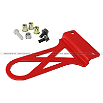 450-401002-R Tow Hook - Powdercoated red, Steel, Direct Fit, Sold individually