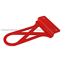 aFe 450-401003-R Tow Hook - Powdercoated red, Steel, Direct Fit, Sold individually