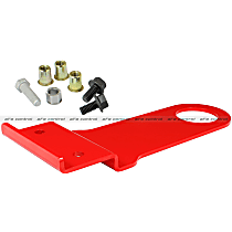 aFe 450-401005-R Tow Hook - Powdercoated red, Steel, Direct Fit, Sold individually