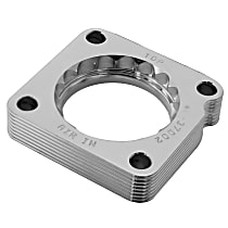 Throttle Body Spacer - Clear Anodized, Aluminum, Direct Fit, Sold individually