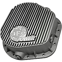 Differential Cover - Natural, Iron, Direct Fit, Sold individually Rear