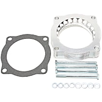 46-31001 Throttle Body Spacer - Clear Anodized, Aluminum, Direct Fit, Sold individually