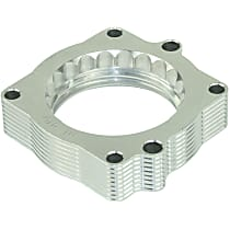 46-32002 Throttle Body Spacer - Clear Anodized, Aluminum, Direct Fit, Sold individually