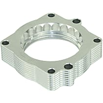 aFe 46-32002 Throttle Body Spacer - Clear Anodized, Aluminum, Direct Fit, Sold individually