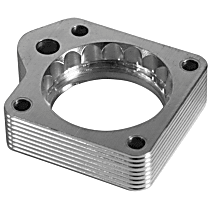 46-32003 Throttle Body Spacer - Clear Anodized, Aluminum, Direct Fit, Sold individually