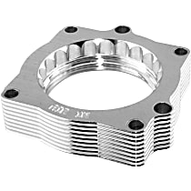 aFe 46-32007 Throttle Body Spacer - Clear Anodized, Aluminum, Direct Fit, Sold individually