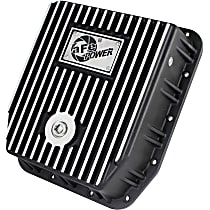 46-70212 Transmission Pan - Powdercoated Black, Aluminum, Deep, Direct Fit, Sold individually