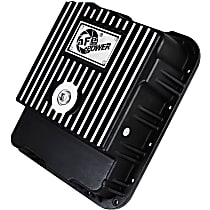 aFe 46-70242 Transmission Pan - Powdercoated Black, Aluminum, Deep, Direct Fit, Sold individually