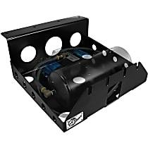 aFe 46-79001 Air Suspension Compressor Mounting Bracket - Powdercoated Black, Steel, Direct Fit