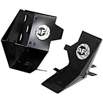 54-11278 Air Intake Scoop - Powdercoated Black, Aluminum, Direct Fit, Set of 2