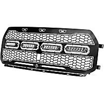79-21002L Front Grille, Powdercoated Black