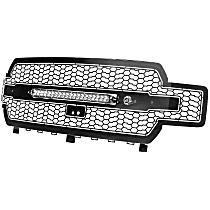 79-21005L Front Grille, Powdercoated Black