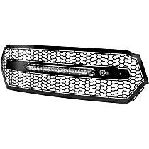 79-21007L Front Grille, Powdercoated Black