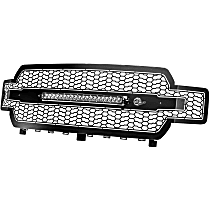 79-21008L Front Grille, Powdercoated Black