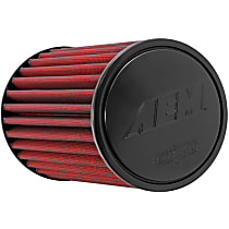 21-2019DK Universal Air Filter - Red, Synthetic, Washable, Universal, Sold individually