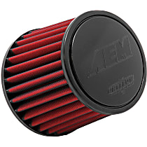 AEM Air 21-201DK Universal Air Filter - Red, Synthetic, Washable, Universal, Sold individually