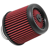 AEM Air 21-201D-XK Universal Air Filter - Red, Synthetic, Washable, Universal, Sold individually