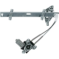 Front, Driver Side Power Window Regulator, With Motor - Sedan