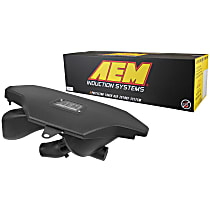 Cold Air Intake, Dry Synthetic Filter, Black Plastic Tube