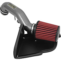 Cold Air Intake, Synthetic, Dry, Aluminum, Gray, Assembly