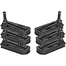 44-TF011-MC Automatic Transmission Filter - Black, Direct Fit, Set of 6