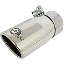 49T25304-P06 Exhaust Tip - Polished, Stainless Steel, Single, Universal, Sold individually