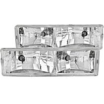 111004 Driver and Passenger Side Headlight, With bulb(s)