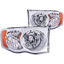 111076 Driver and Passenger Side Halogen Headlight, With bulb(s)