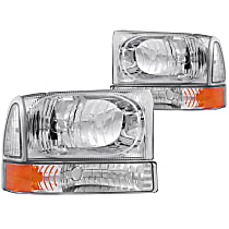 111081 Driver and Passenger Side Halogen Headlight, With bulb(s)