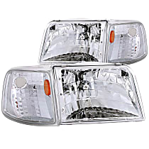 111119 Driver and Passenger Side Headlight, With bulb(s)