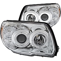 Driver and Passenger Side Headlight, Without bulb(s)