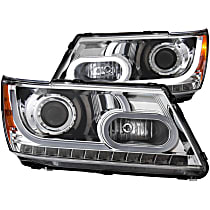 Driver and Passenger Side Headlight, With bulb(s)